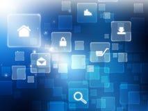 计算机图标互联网技术 免版税库存图片