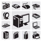 计算机图标 库存图片