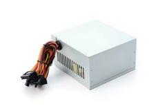 计算机在白色背景隔绝的电源 免版税库存图片