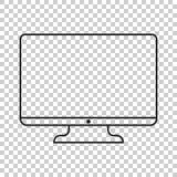 计算机在线型的传染媒介例证 监测平的象 T 免版税库存照片