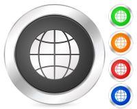 计算机地球图标 免版税图库摄影