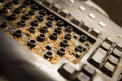 计算机坏的关键董事会 免版税库存图片