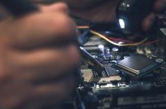 计算机处理器,与cpu插口一起使用 免版税库存照片