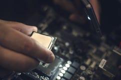 计算机处理器, CPU芯片 免版税库存照片