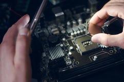 计算机处理器, CPU芯片 免版税库存图片