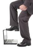 计算机失败膝上型计算机 免版税图库摄影