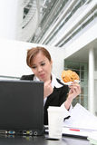 计算机妇女 免版税图库摄影