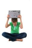 计算机孩子 图库摄影