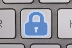 计算机安全键盘锁 免版税库存照片