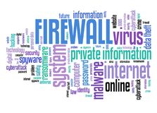 计算机安全防火墙 库存例证