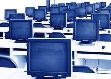 计算机实验室 图库摄影