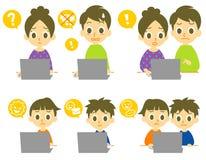 计算机家族计算机病毒 图库摄影