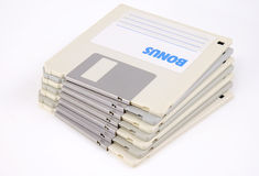 计算机小数据的盘 免版税库存照片