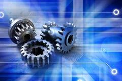 计算机嵌齿轮技术背景 免版税图库摄影