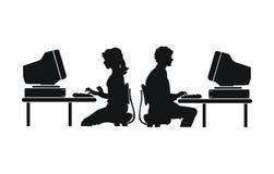 计算机工作 皇族释放例证