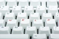 计算机帮助键盘键 免版税库存图片