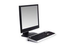 计算机平面的查出的屏幕白色 库存图片