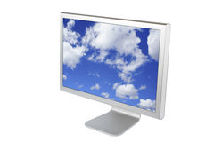 计算机平面的lcd监控程序面板 库存照片