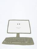 计算机微笑 库存例证