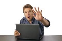 计算机惊奇 免版税库存图片