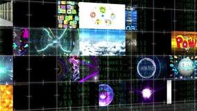 计算机或电视新闻广播传输屏幕接口显示背景的无缝的动画 皇族释放例证