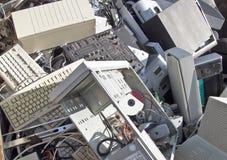 计算机报废 库存照片