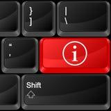 计算机按钮信息 免版税库存图片