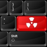 计算机按钮辐射标志 免版税库存图片
