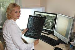 计算机控制X线断层扫描术实验室 计算机化的轴向X线体层照相术CAT 免版税图库摄影