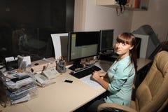 计算机控制X线断层扫描术实验室 计算机化的轴向X线体层照相术CAT 库存照片