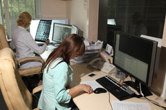 计算机控制X线断层扫描术实验室 计算机化的轴向X线体层照相术CAT 免版税库存照片