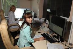计算机控制X线断层扫描术实验室 计算机化的轴向X线体层照相术CAT 免版税库存图片