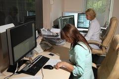 计算机控制X线断层扫描术实验室 库存照片