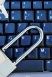 计算机数据保密性证券 库存图片