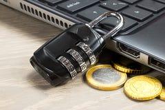 计算机数据保密 免版税库存照片