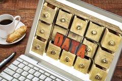 计算机数据存储概念 免版税库存图片