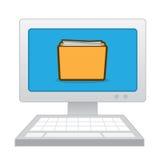 计算机文件夹纸 图库摄影
