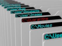 计算机文件系统 图库摄影