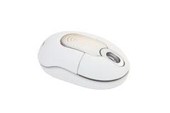 计算机无绳的鼠标白色 免版税库存照片
