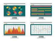 计算机替换财务图形线路屏幕股票 免版税图库摄影