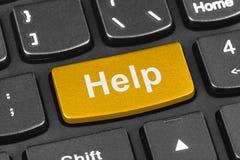 计算机有帮助键的笔记本键盘 库存照片