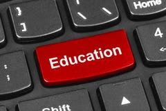 计算机有教育钥匙的笔记本键盘 免版税库存照片