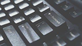 计算机服务器或台式计算机的键盘 免版税库存图片
