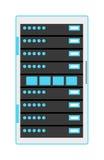 计算机服务器象例证 库存图片