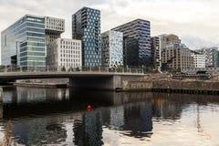 计算机条码摩天大楼在奥斯陆 库存图片
