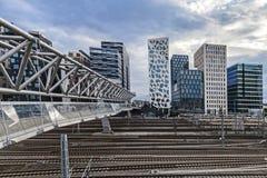 计算机条码桥梁在奥斯陆 免版税图库摄影