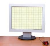 计算机桌面监控程序 库存图片