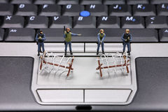 计算机概念数据安全性 库存图片