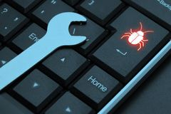 计算机概念维修服务工具套件白色 硬件或软件错误 库存图片