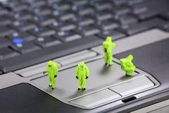 计算机概念证券 免版税库存图片